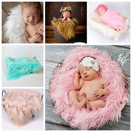 $enCountryForm.capitalKeyWord Australia - Wholesale Newborn Photography Props Soft Baby Fur Blankets Faux Fur Background Blankets Cute Infant Kids Fotografia De Baby Fotografia