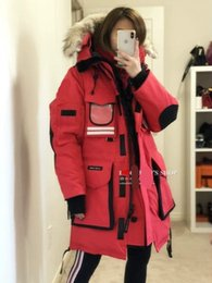 fashion snow parka Australia - Women Parkas WINTER CANADA Brand SNOW MANTRA-2 Down & Parkas WITH HOOD Snowdome jacket Real wolf Collar White Duck GOOSE Outerwear & Coats
