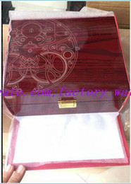box handbags NZ - Free Shipping High Quality Topselling Red Nautilus Watch Original Box Papers Card Wood Boxes Handbag For Aquanaut 5711 5712 5990 5980 Watch