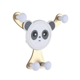 outlet apple NZ - 100pcs New Smiley Panda Gravity Sensor Mobile Phone Bracket Car Outlet Car Bracket For IPHONE Samsung Huawei OPPO, Etc.