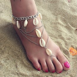 Rhodium anklet online shopping - WWLB Vintage Shell Foot Jewelry Anklet For Women Multilayer Ankle Leg Chain Charm Starfish Beads Bracelet Fashion Beach Jewelry