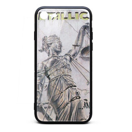 Iphone Front Yellow Australia - IPhone 6 Case,iPhone 6S Case Metallica And Justice For All front 9H Tempered Glass Cover TPU Bumper Shock Absorption Phone Case