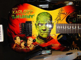 Chinese  Rare kirk Hammett LTD KH-3 Karloff Mummy Electric Guitar Original EMG Pickups, Real Floyd Rose Tremolo, Painted & Airbrushed by Eye Kandi manufacturers