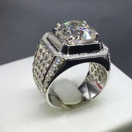 $enCountryForm.capitalKeyWord NZ - 14k Gold Zircon Luxury Hive Big Ring Trendy Man Gemstone Anillos Bague Rings Bizuteria White Diamond Anel Jewelry J190714