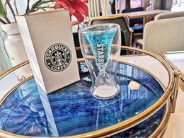 $enCountryForm.capitalKeyWord NZ - Nordic style Starbucks Mermaid crystal transparent Glass cup personal Fish tail Double-decked Mug for Coffee beer juice