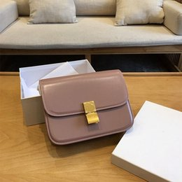 EuropEan crossbody handbags online shopping - european famous brand Designer original leather top handle bag women Crossbody Bag Shoulder handbag summer small classic bag in box calfskin