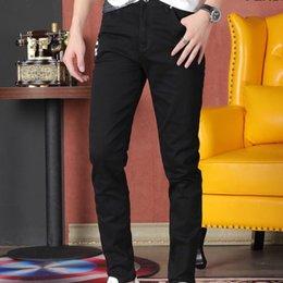Men trousers size 36 black online shopping - 2019 New Men s Fashion Jeans Sports Trousers Men s Comfortable Breathable Jeans Size Promotion