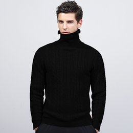 leopard print goods 2019 - good quality 2019 Brand Winter New Men's Body Knitting Sweater Pure Cotton High-collar Overcoat For Male Sweater Ou