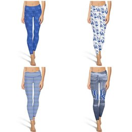 $enCountryForm.capitalKeyWord Canada - Kentucky Wildcats basketball blue Fashion Women's Printing Yoga pants Elasticity Casual Four-way stretch Suitable for Training gary USA