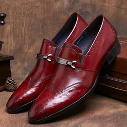 edc8d92bd CLORISRUO Preto / marrom bronzeado mens sapatos de vestido de couro genuíno apontou  toe mens sapatos de negócios de moda formal do casamento