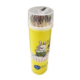 $enCountryForm.capitalKeyWord Australia - Amazon hot sale smooth writing 36 color green wooden color pencil barrel children's painting color pencil set wholesale