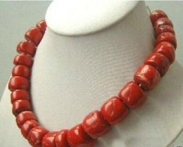 "$enCountryForm.capitalKeyWord Australia - Jewelryr Jade Necklace Lovely! Tibet Red Coral Silver Necklace large beads 18"" Free Shipping"