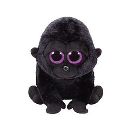 "Large Toy Dolls UK - Ty Beanie Boos 10"" 25cm chimpanzee Large Plush Big-eyed Stuffed Animal Collectible Doll Toys for children"