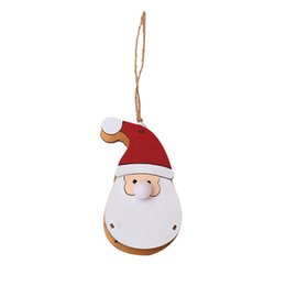 wholesale doll houses NZ - LED Light Wooden Dolls House Villa Christmas Ornaments Hanging Decoration Home Gift Xmas Decor