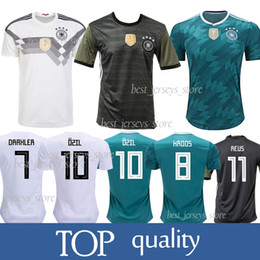 1793a48bf Germany 13 MULLER Home Away Soccer Jersey 10 OZIL 8 KROOS Soccer Shirt 5  HUMMELS 17 BOATEN Football jerseys 2018 World Cup