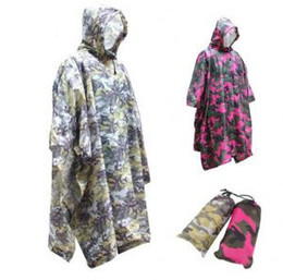 Camouflage motorCyCle online shopping - Camouflage Raincoat in Adults Polyester Waterproof Rain Coat Motorcycle Camping Climbing Fishing Outdoor Poncho Rainwear OOA6174