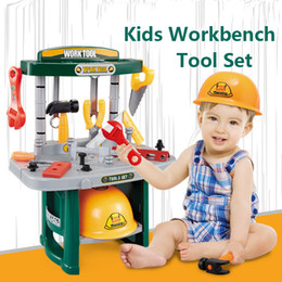 boy tool toys NZ - Baby Repair Tool Set Pretend Play Toys Children Garden Tool Stimulation Plastic Toy Set Educational Toy for Boy Classic Gift Kit