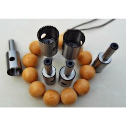 knife tooth UK - 14 15 16 18mm 4PCS LOT Round Ball Making Tools High-Speed Steel Beads Knife Woodworking Fine-tooth Beads Cutter Rosary Hardwood SH190918