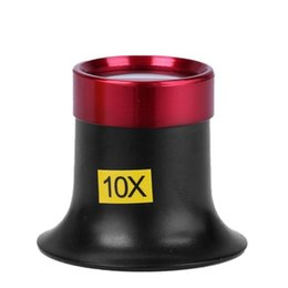 Loupe Wholesalers Australia - 10X Metal Monocular Glass Magnifier Watch Jewelry Repair Tools Loupe Lens