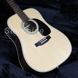 Guitar Electric Acoustic NZ - JEAN6018 6 Strings D Style 28E Electric Acoustic Guitar Fishman EQ Solid Spruce Top Grover Tuner