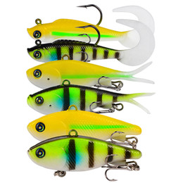 Soft Lures Grubs Australia - New Lifelike VIB Fish dying bait Grub Twintails soft lure 3styles lively baitfish forked tail Rubber Fishing lure