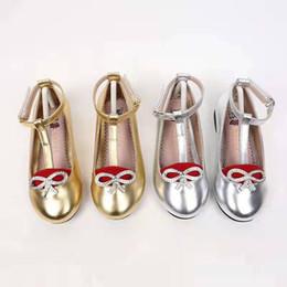 $enCountryForm.capitalKeyWord Australia - kid dance shoe latin dance shoe girl godden color designer little girl toddlers walking shoes G letter design for child girl sneakers
