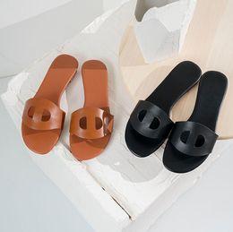 $enCountryForm.capitalKeyWord NZ - Summer new top leather Women Designer Sandals luxury slippers Dust Bag Designer Shoes Luxury Slide Summer Wide Flat Sandals Slipper