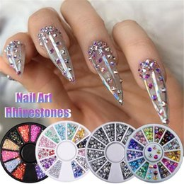 box wheels 2020 - 1 Box Double-sided Nail Art Rhinestone Marquise Heart Crystal 3D Water Drop Nail Stones Art UV Gel DIY Decoration in Whe