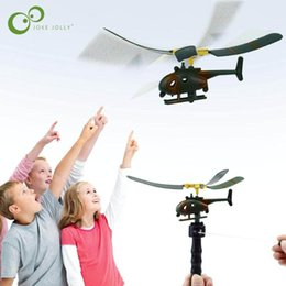 Wholesale Toys Helicopter NZ - Aviation Model Kids Handle Pull The Plane Aviation Funny Toy Helicopter For Children Play Gift Model Aircraft Helicopter WYQ