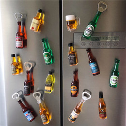 magnet fridge stickers Australia - Fridge magnet decor Beer Bottle Opener Refrigerator Stickers Magnets Kitchen accessories Creative 3d decoration