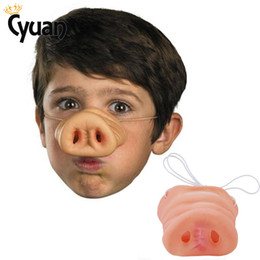 pig face masks UK - Pig Nose Costume Elf Ears Party Mask Cosplay Props Funny Party Decoration Adult Child Tricks Gifts Fancy Dress up Costume