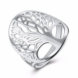 $enCountryForm.capitalKeyWord NZ - Hot Tree of life ring Korean fashion style silver jewelry ring for girl latest tree of life women wedding engagement jewelry gift