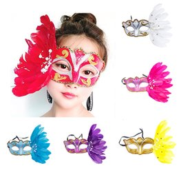 Exquisite Face Mask Australia - Masquerade Party Mask Exquisite mystery Masked Girl Feather Half Face Painted Mask Masquerade Christmas Halloween Birthday Party Accessorie