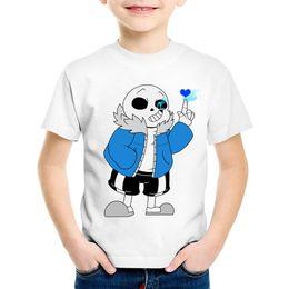 Discount girls skull t shirt - Cartoon Print Skull Brother Undertale Children Funny T-shirts Kids Summer Tees Boys Girls Casual Great Tops Baby Clothin