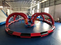 $enCountryForm.capitalKeyWord UK - NEW Inflatable Zorb Ball Race Track 9x6m oval Inflatable Go Karting track for amusement park inflatable track for kids CE EN71 standard