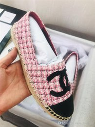 Wholesale fashion Classic Women Cord Loafers Espadrille Flat Slippers with Straw Weaving Outsoles Casual Shoes Women Slip on for Daily Use sdf