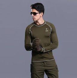$enCountryForm.capitalKeyWord Australia - Tactical training speed dry long sleeve T shirt polo gym gymnastics wear body stretch suit.