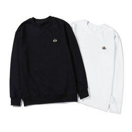 Großhandel 2019 neue Hoodies Sweatshirt Mode schwarz weiße Biene Stickerei Pullover Männer Frauen Designer Hoodie Langarm