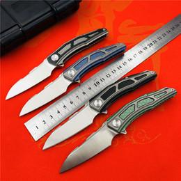 Titanium Cutter Australia - STEDEMON original A02 bearing folding knife 204P powder steel titanium alloy handle outdoor small folding knife EDC pocket cutter
