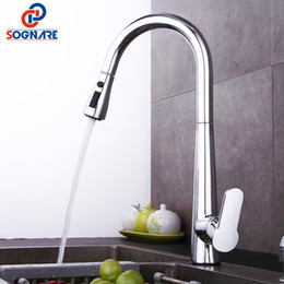 brushed chrome kitchen mixer taps 2019 - Kitchen Tap Chrome Finished Spring Kitchen Faucet Brass Brushed Nickel Pull Out Mixer Sink Mixer Tap 360 Degree Rotation