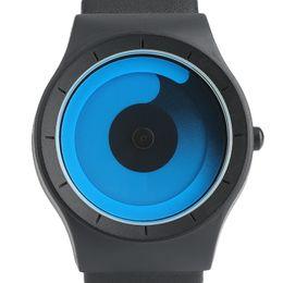 Brand Luxury Style Watch UK - Mens Watches Top Brand Luxury Spiral Turntable Novel Sport Quartz Watch Men Fashion Aurora Style Clock Gifts Relogio Masculino