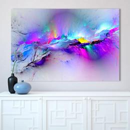 $enCountryForm.capitalKeyWord Australia - Canvas Paintings Wall Art HD Prints Framework 1 Piece Pcs Abstract Unreal Pink Cloud Landscape Pictures Nebula Poster Home Decor