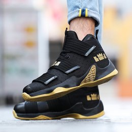 ee7a69301576 Cross-border Spring and Summer Basketball High-top Men Increase Wear-resistant  Casual Couple Shoes Breathable Portable Sports Men s Shoes
