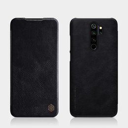 case note nillkin NZ - For Xiaomi Redmi Note 8 Pro NILLKIN QIN Series Crazy Horse Texture Horizontal Flip Leather Case, with Card Slot