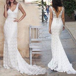 $enCountryForm.capitalKeyWord Australia - Lace Evening Dresses Long 2019 Formal Full Maxi Dress Party Suit-dress Sexy Deep V Sleeveless robe de soiree Lace Longuette