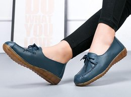 ShoeS elderly online shopping - Spring New Style Nurse Small White Shoes Casual Leather Belt Flat With Female Leather Mother Elderly Cow Tendon Casual In All Categories