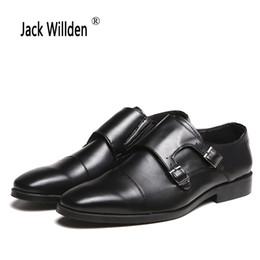 Discount monk formal shoes men - Plus Size 48 Men Dress Shoes Formal Business Work Leather Shoes Pointed Toe Men's Oxfords Double Monk Strap Slip on