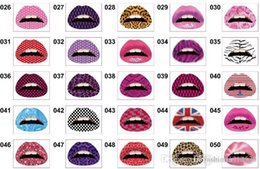 $enCountryForm.capitalKeyWord Australia - 1 PCS New Fashion Hot sale 2019 Temporary Lip Tattoo Stickers Lipstick Art Transfers Art Party Fancy Dress Tatoo