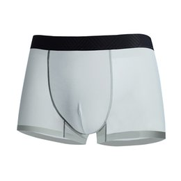 Panties White Blue Australia - DEWVKV Summer Ice Silk Men's Underwear Sexy Male Panties Men Boxer Shorts Soft Nylon Solid Black White Blue Cool XXL Hot Sale ZC