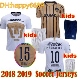 Cougar kids MEXICO CLUb UNAM Soccer Jersey Home away 18 19 special edition  Malcorra MORA Iturbe Rodríguez LIGA MX Cougar football shirts c458163c8